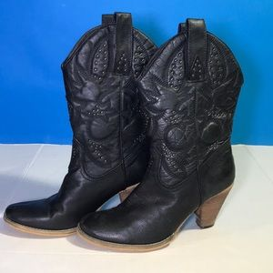 Volatile Nightbloom Leather Western Cowboy Boots 9